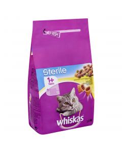 Hrana uscata completa cu pui pentru pisici adulte Whiskas 1.4kg