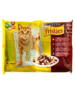 Hrana completa-carne+legume in sos pt pisici adulte Purina Friskies 400g