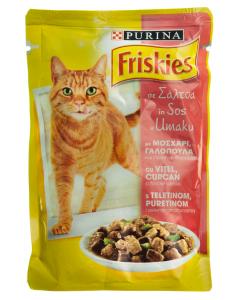 Hrana completa cu vita si curcan pt pisici adulte Purina Friskies 100g