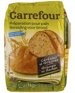 Faina de panificatie pentru paine cu cereale Carrefour 1kg