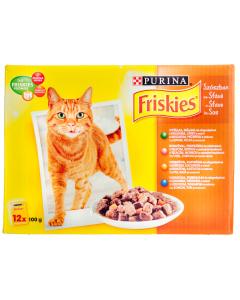 Hrana completa in sos pentru pisici adulte Purina FrisKies 1.2kg