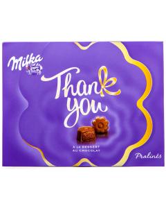 Praline cu ciocolata Milka Thank You A la desert au Chocolat 120g