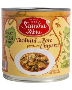 Tocanita de porc gatita cu ciuperci Scandia Sibiu 400g