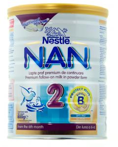 Lapte praf premium de continuare Nestle NAN 2 800g