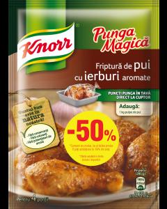 Punga magica pui Knorr 25g 1+1/2 gratis