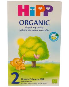 Lapte organic 2 Hipp 300g