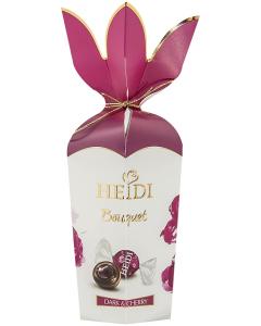 Praline din ciocolata amaruie cu cirese Heidi Bouquet 120g