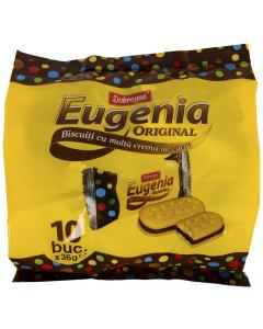 Biscuiti cu multa crema cacao Dobrogea Eugenia Original 360g