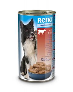 Conserva pentru caini cu vita Reno 1240g