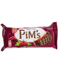 Biscuiti cu jeleu de visine acoperiti cu ciocolata Pim's 147g