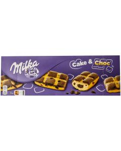 Prajitura cu bucatele de ciocolata Milka Cake&Choc 175g