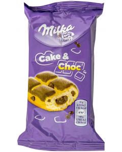 Prajitura cu bucatele de ciocolata si crema de ciocolata Milka 35g