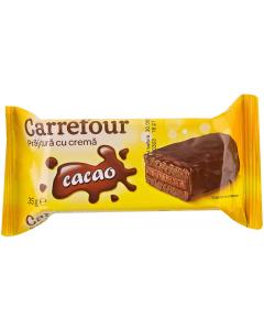 Prajitura cu crema cacao Carrefour 35g