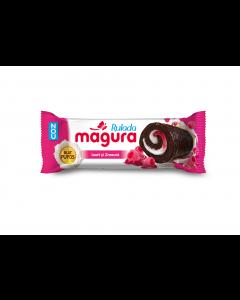 Prajitura cu crema de iaurt si gem de zmeura glazurata Magura 35g