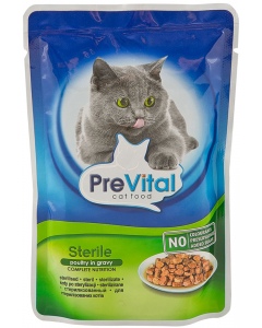 Hrana pentru pisici adulte sterilizate cu pasare Pre Vital 100g