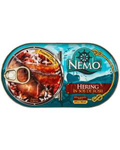 Hering in sos de rosii Nemo 170g