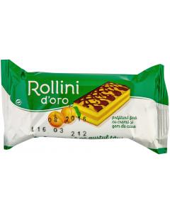 Prajitura fina cu crema si gem de caise Rollini d'Oro 28g