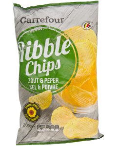 Chipsuri Carrefour Ribble Chips Sare si Piper 200g