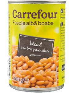 Fasole alba boabe Carrefour 400g
