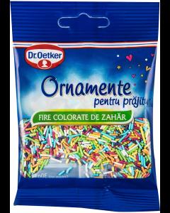 Ornamente din zahar pentru prajituri fire colorate Dr. Oetker 30g