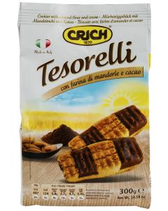 Fursecuri Tesorelli cu faina de migdale si cacao Crich 300g