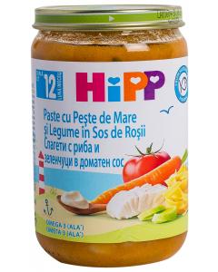 Paste cu peste si legume Hipp 220G