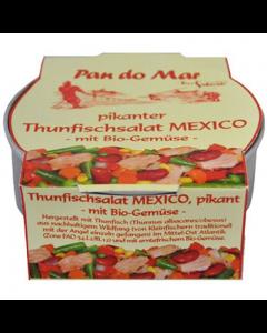 Salata bio picanta de ton cu legume Mexic 250g Pan do Mar