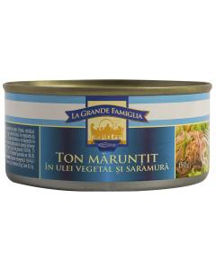 Ton maruntit in ulei vegetal si saramura La Grande Famiglia 150g