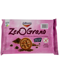 Biscuiti cu fulgi de ciocolata Galbusera ZeroGrano 300g