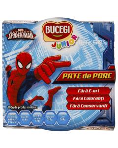 Pate de porc Bucegi Junior Spiderman120g