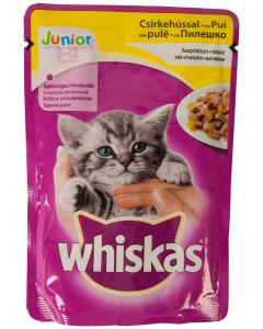 Hrana pui pisici 2-12 luni cu pui Whiskas 100g
