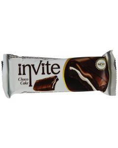 Prajitura crema frisca si glazura cacao Invite 100g