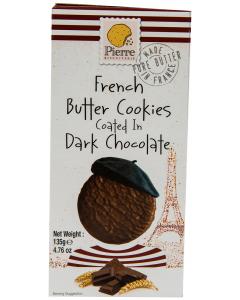 Biscuiti cu unt si ciocolata neagra Pierre Biscuiterie 135g