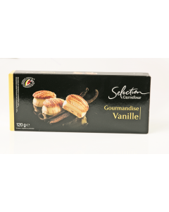 Biscuiti cu crema de vanilie Carrefour 120g