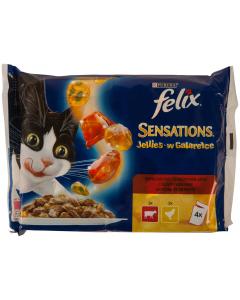 Hrana pisici meniu rustic vita si pui Felix Purina 4x100g