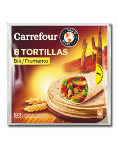 Tortilla din faina de grau Carrefour 320g