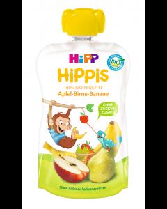 Piure ecologic cu mar, para si banana Hipp Hippis 100g