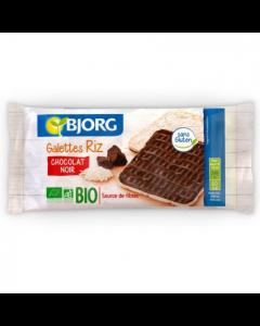 Galete ecologice de orez glazurate cu ciocolata negra 100g Bjorg
