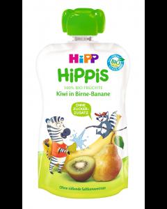 Piure ecologic cu para, banana si kiwi Hipp Hippis 100g