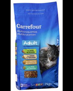 Biscuiiti cu iepure si curcan pentru pisica Carrefour 2kg