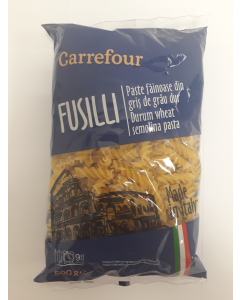 Fusilli grau dur 500g Carrefour