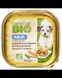 Pate de pui si legume pentru caini adulti Carrefour Bio 300g