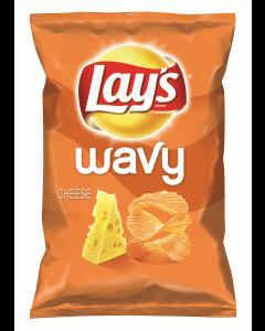 Chipsuri ondulate din cartofi cu gust de cascaval Lay`s Wavy 130g