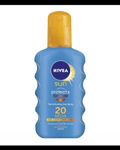 Lotiune spray protect&bronze SPF20 Nivea 200ml