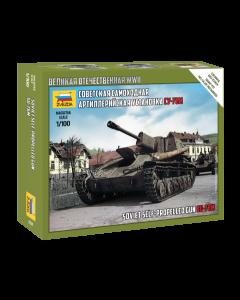 1:100 SU-76M SOVIET S.P.GUN - Snap-fit 1:100