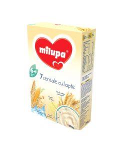 Cereale cu lapte, Milupa 7 Cereale, 250g, 6luni+