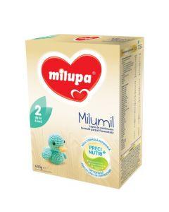Lapte praf Milupa Milumil 2, 600g, 6-9 luni