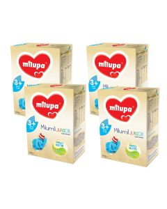 Pachet 4 x Lapte praf Milupa Milumil Junior 3+, 600g, 3ani+
