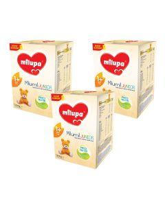 Pachet 3 x Lapte praf Milupa Milumil Junior 1+, 1200g, 12luni+
