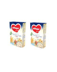 Pachet 2 x Cereale cu lapte Milupa, Vise Placute 7 Cereale cu lapte si mere, 250g, 8luni+
